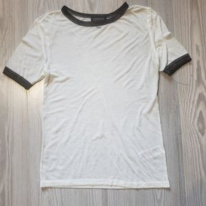 TopShop white shirt 90s style size 2 extra small